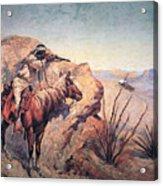 Apache Ambush Acrylic Print by Frederic Remington