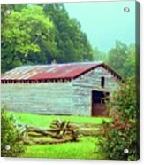 Appalachian Livestock Barn Acrylic Print by Desiree Paquette