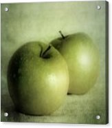 Apple Painting Acrylic Print by Priska Wettstein