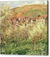Apple Trees In Blossom Acrylic Print by Claude Monet