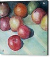 Apples And Orange Acrylic Print by Jun Jamosmos