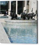 Appleton Reflection Pool Acrylic Print by Warren Thompson