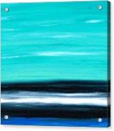 Aqua Sky - Bold Abstract Landscape Art Acrylic Print by Sharon Cummings