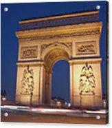 Arc De Triomphe, Paris, France Acrylic Print by David Min