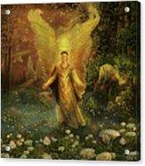 Archangel Azrael Acrylic Print by Steve Roberts