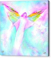 Archangel Gabriel In Flight Acrylic Print by Glenyss Bourne
