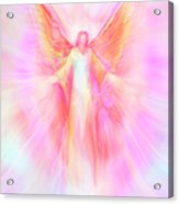 Archangel Metatron Reaching Out In Compassion Acrylic Print by Glenyss Bourne