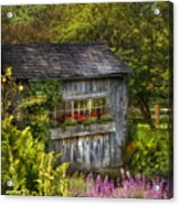 Architecture - A Summers Dream  Acrylic Print by Mike Savad