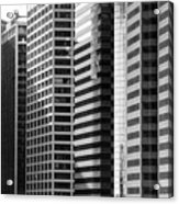 Architecture Nyc Bw Acrylic Print by Chuck Kuhn