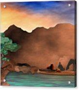 Arizona Sky Acrylic Print by Arline Wagner