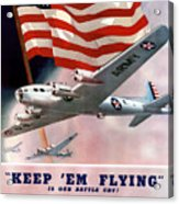 Army Air Corps Recruiting Poster Acrylic Print by War Is Hell Store