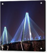 Arthur Ravenel Bridge Acrylic Print by Corky Willis Atlanta Photography