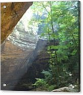 Ash Cave Acrylic Print by Mindy Newman