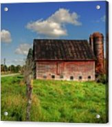 Ashtabula County Barn Acrylic Print by Tony  Bazidlo