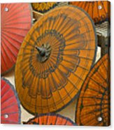 Asian Umbrellas Acrylic Print by Michele Burgess