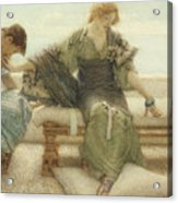 Ask Me No More....for At A Touch I Yield Acrylic Print by Sir Lawrence Alma-Tadema