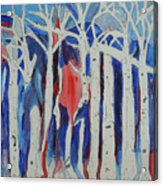 Aspen Roots Acrylic Print by Christy Woodland