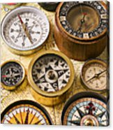 Assorted Compasses Acrylic Print by Garry Gay