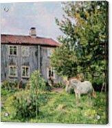 At The Farm Acrylic Print by Gerhard Peter Frantz Vilhelm Munthe