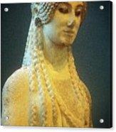 Athenian Kore Acrylic Print by Andonis Katanos