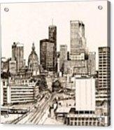 Atlanta Skyline Acrylic Print by Pamir Thompson
