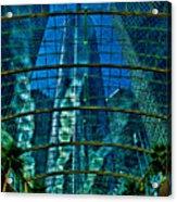 Atrium Gm Building Detroit Acrylic Print by Chris Lord