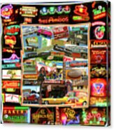 Atx Restaraunt Montage Acrylic Print by Andrew Nourse