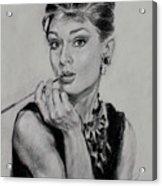 Audrey Hepburn Acrylic Print by Ylli Haruni