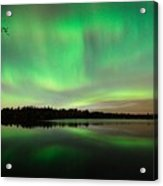 Aurora Over Tofte Lake Acrylic Print by Larry Ricker