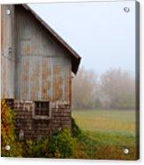 Autumn Barn Acrylic Print by Jill Battaglia