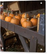 Autumn Farmstand Acrylic Print by John Burk