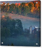 Autumn Scenic - West Rupert Vermont Acrylic Print by Thomas Schoeller
