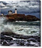 Autumn Storm At Cape Neddick Acrylic Print by Rick Berk