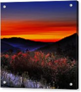 Autumn Sunrise Acrylic Print by William Carroll
