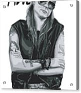Axl Rose Acrylic Print by Unknow