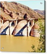 Az 2011 Apache Res - Coolidge Dam Acrylic Print by Gregory Jeffries