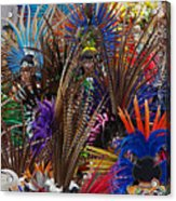 Aztec Feather Dancers - Mexico Acrylic Print by Craig Lovell