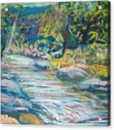 Babbling Brook Acrylic Print by Richalyn Marquez