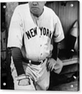 Babe Ruth In The New York Yankees Acrylic Print by Everett