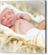 Baby Jesus Acrylic Print by Jennifer Hickey