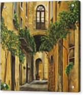 Back Street In Italy Acrylic Print by Charlotte Blanchard