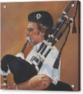 Bag Pipe Acrylic Print by Leonor Thornton