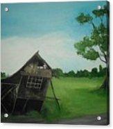 Bahay Kubo Acrylic Print by Robert Cunningham