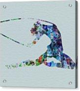 Ballerina On The Stage Acrylic Print by Naxart Studio