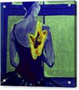 Ballerine En Hiver Acrylic Print by Rusty Woodward Gladdish