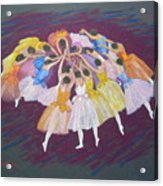 Ballet Dancers Acrylic Print by Rae  Smith PSC