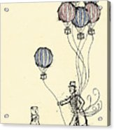 Ballons For Sale Acrylic Print by William Addison