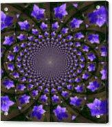 Balloon Flower Kaleidoscope Acrylic Print by Teresa Mucha
