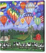 Balloon Race Two Acrylic Print by Linda Mears
