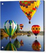 Balloon Reflections Acrylic Print by Mike  Dawson